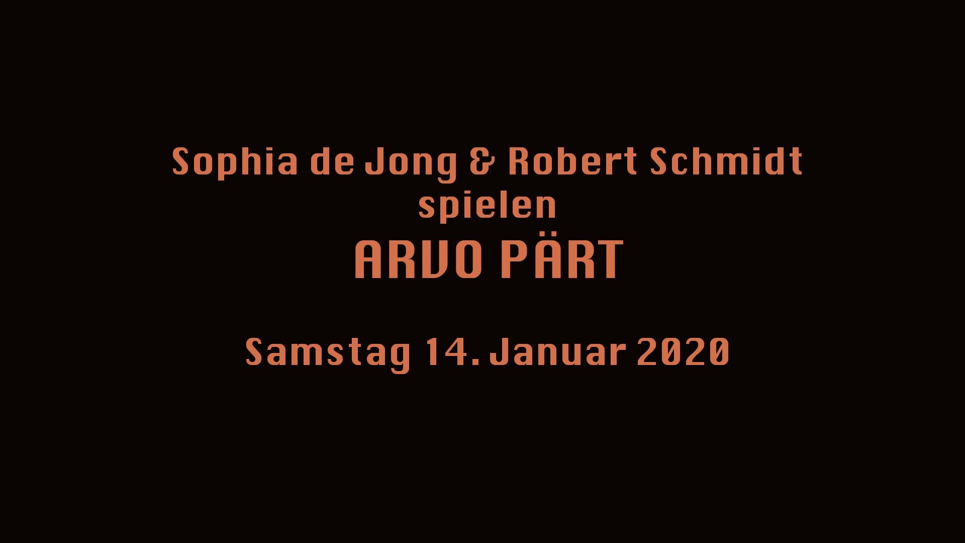 Sophie de Jong/ Robert Schmidt